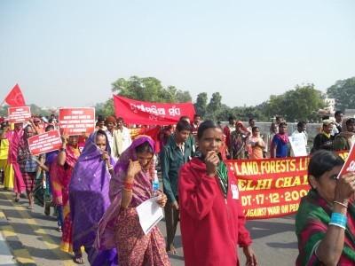 Manifestation contre l'opération Green Hunt