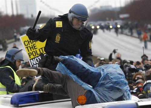 Charge policière à Copenhague
