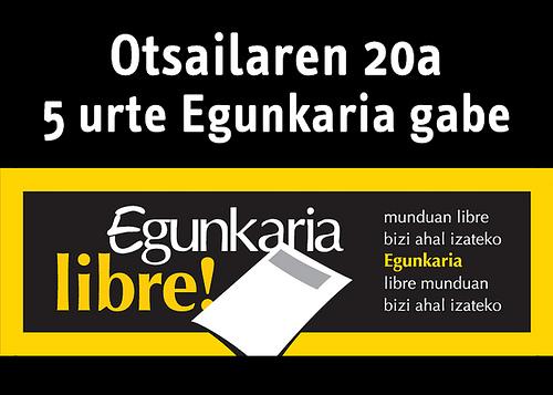 Affiche de soutien au journal Egunkaria