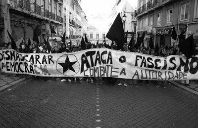 Manif antifasciste à Lisbonne