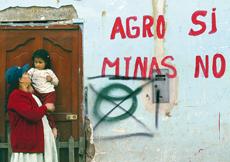 Contre le projet minier au Pérou