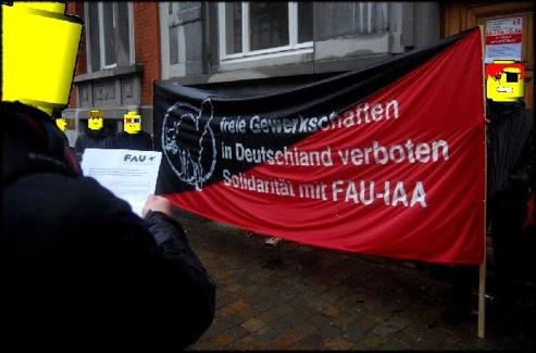 Manifestation pour la FAU