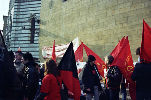 Manifestation à Pistoia