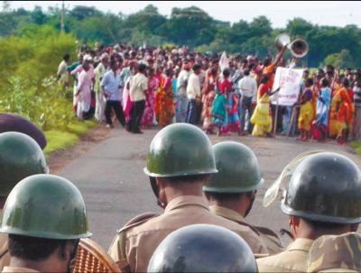 Manifesation anti-répression en Inde