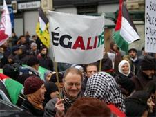 Manifestation pour Luk Vervaet