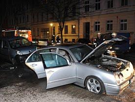 Incendie de voiture en Allemagne