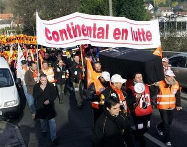 Manifestation pour les ouvriers de Continental
