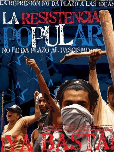 Affiche de la résistance hondurienne
