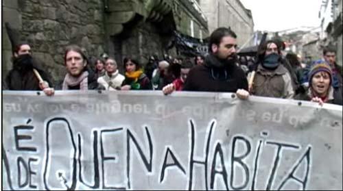 Manifestation pour le squatt de Compostelle
