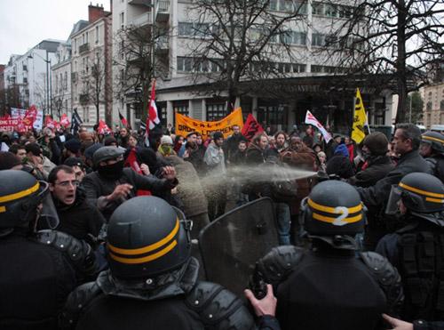 Manifestation des précaires à Rennes