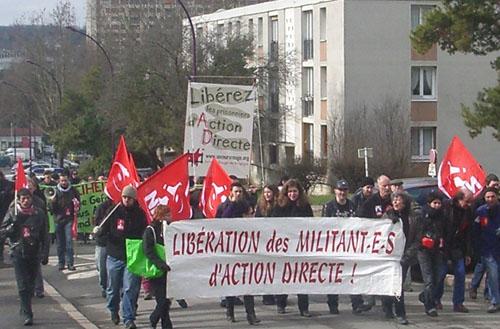 Manifestation pour les prisonniers d'Action Directe