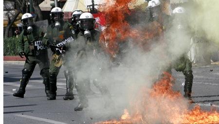 Affrontements en Grèce