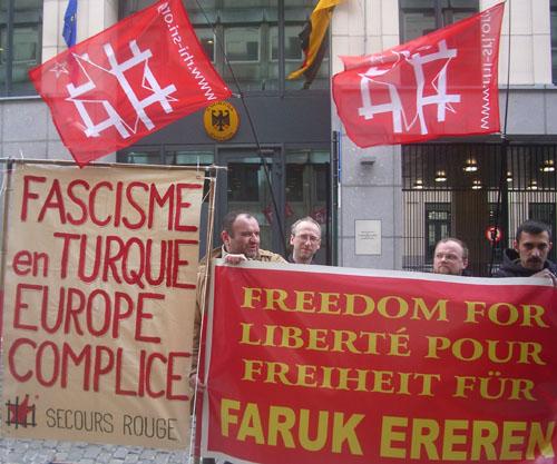 Manifestation pour Faruk Ereren