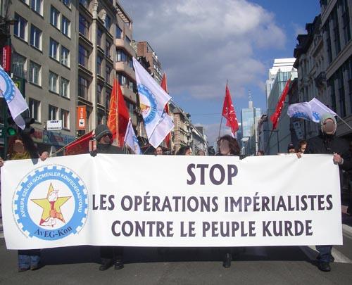 Manifestation pour le PKK