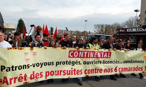 Manifestation de soutien aux 'Conti', 7 avril 2010