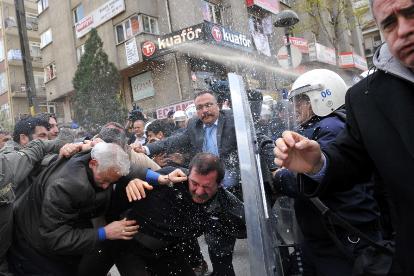 Manifestation des ouvriers de Tekel