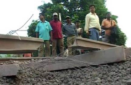 Sabotage de voie ferrée par les maoïstes indiens