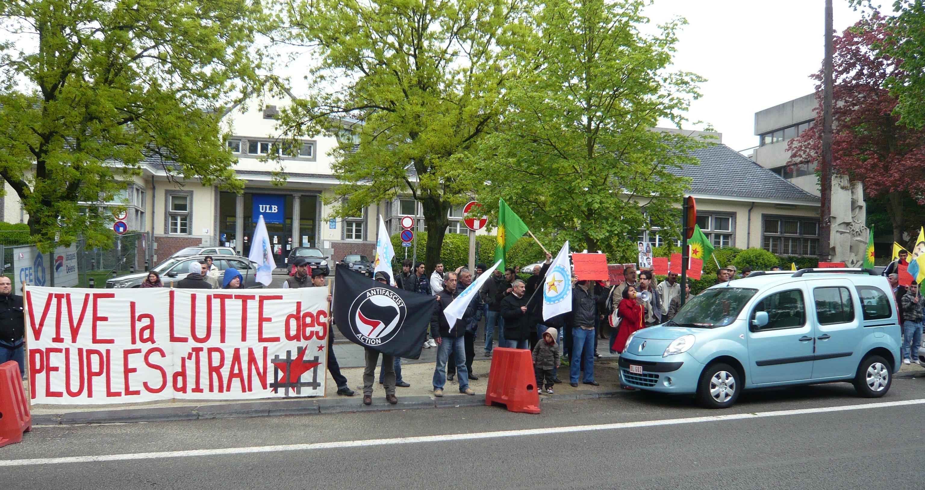 Manifestation des kurdes devant l'ambassade d'Iran à Bruxelles