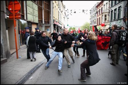 Arrestations au Premier mai à Gand