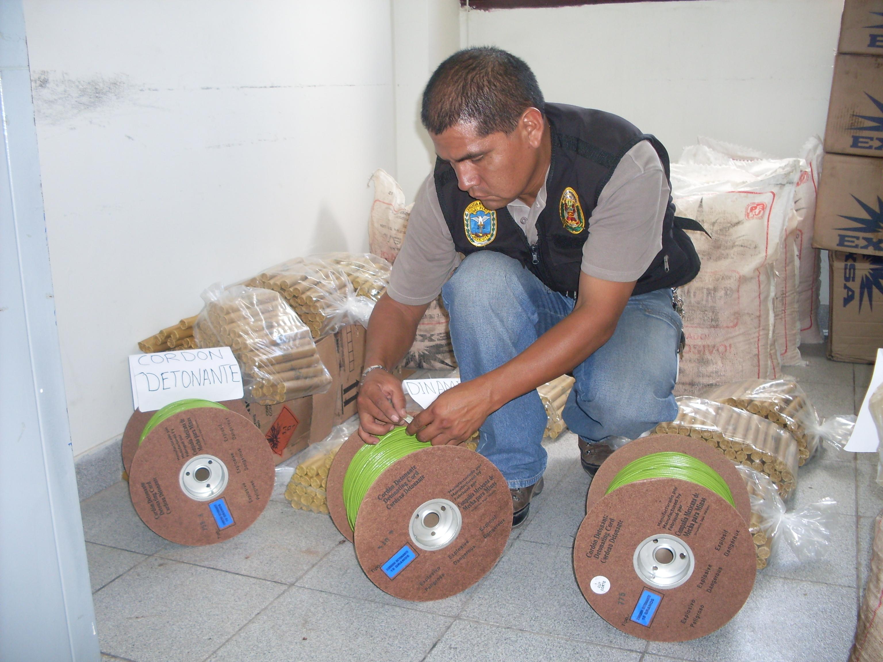 Saisie d'explosif destinés à la guérilla maoïste au Pérou