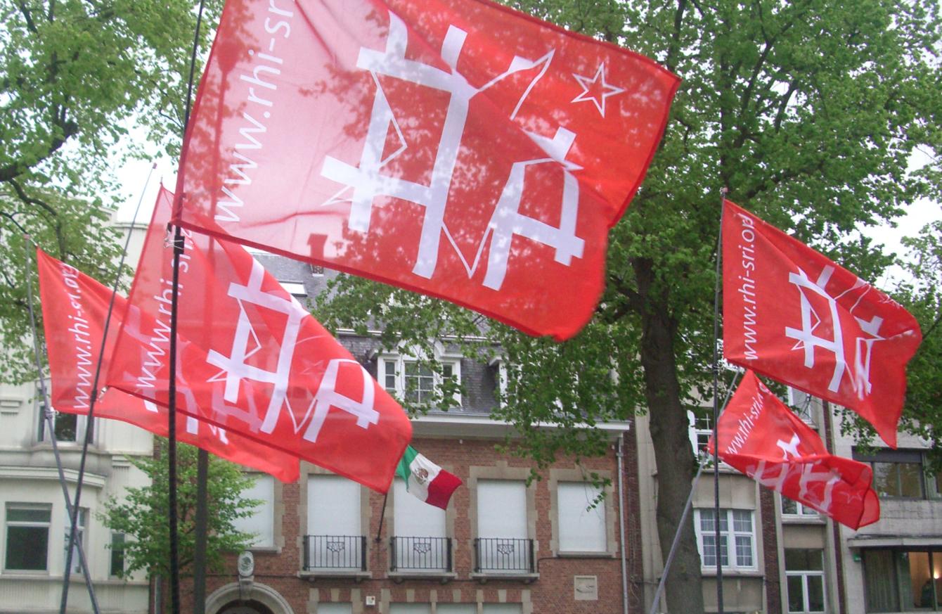 Manifestation devant l'ambassade du Mexique à Bruxelles