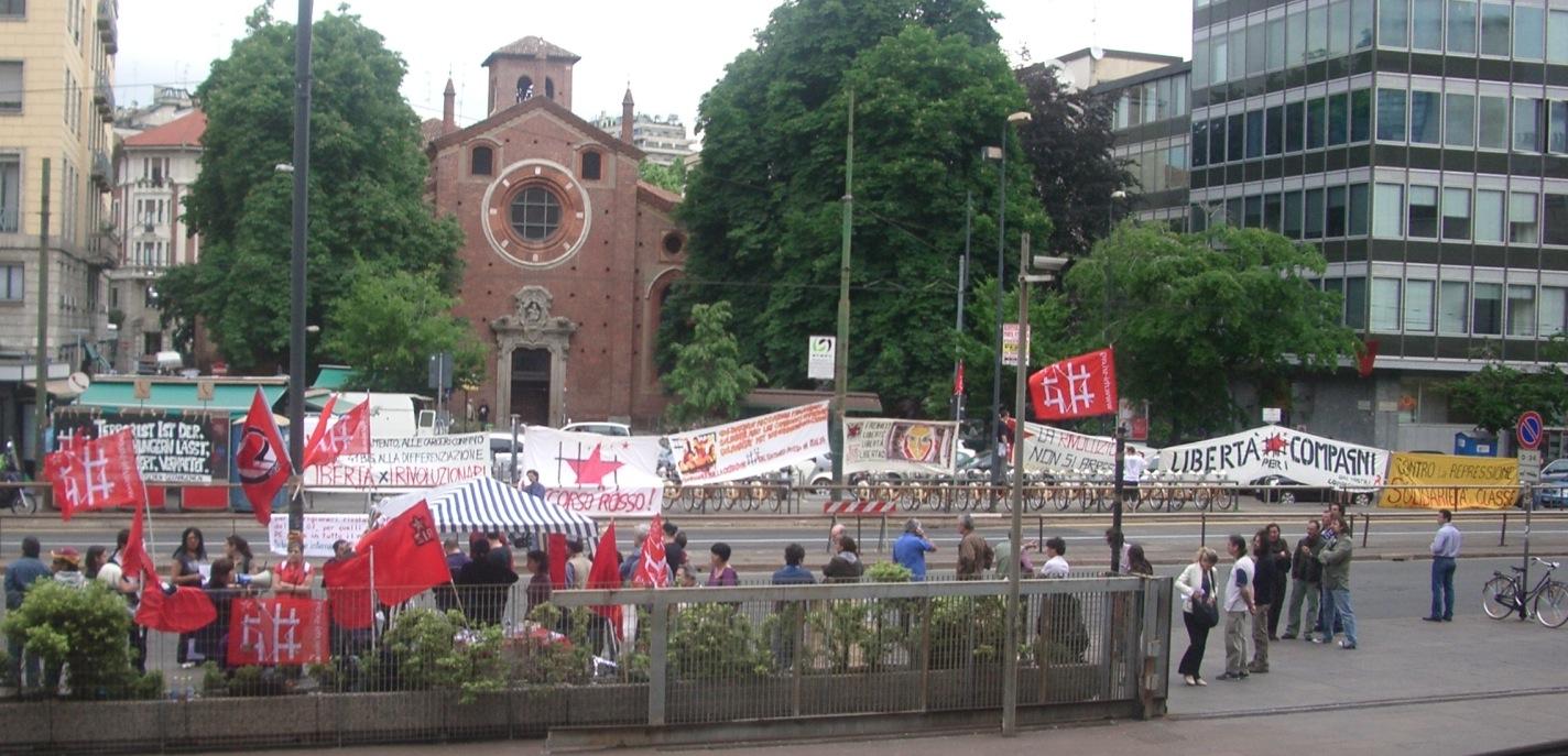 Procès des membres du PCPM à Milan