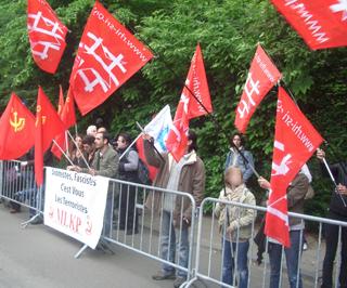 Manifestation devant l'ambassade d'Israel le 1er juin 2010