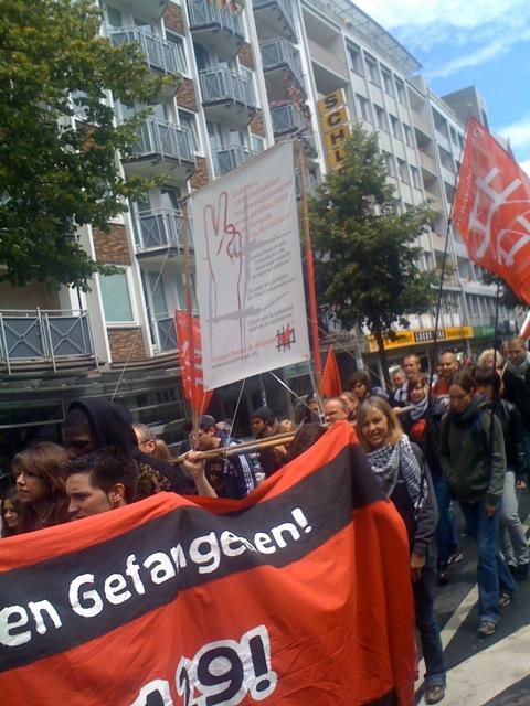 Manifestation à Düsseldorf contre le §129b