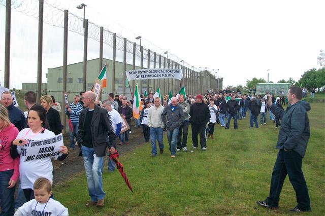 Manifestation pour les prisonniers républicains en Irlande