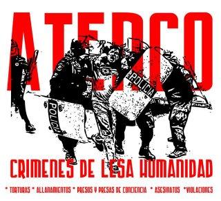 Affiche contre la répression à Atenco