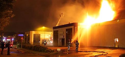 incendie du centre fermé de Rotterdam