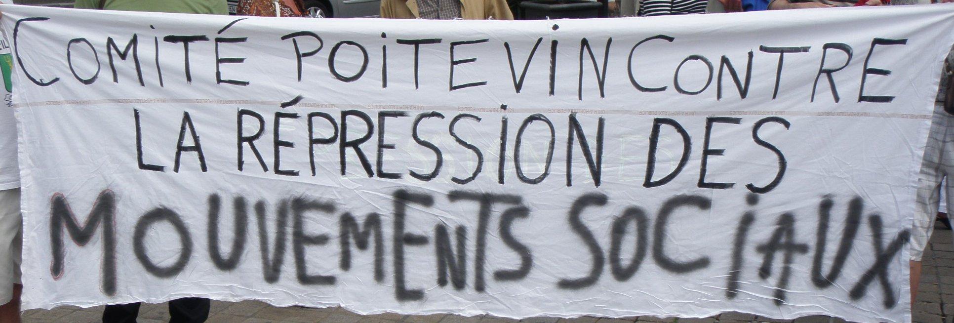 Antirépression à Poitiers