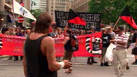 Manifestation à Montreal contre la répression au G20