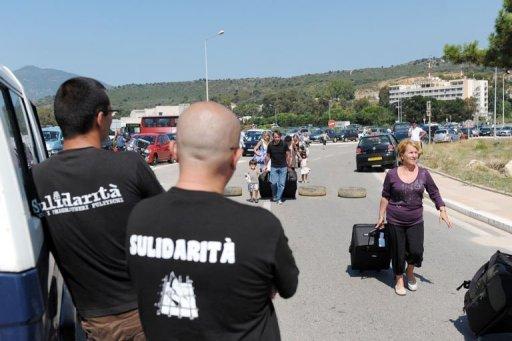 Barrage en Corse pour les prisonniers politiques