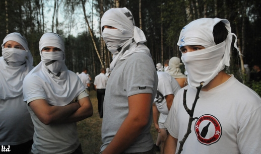 Contre-manifestants fascistes à Khimki