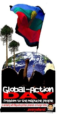 Journée internationale de solidarité avec les prisonniers Mapuches