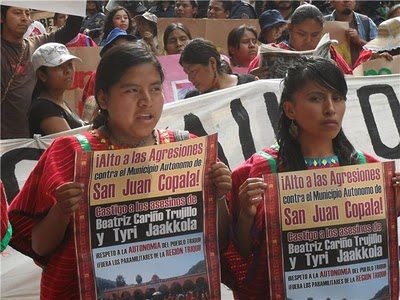 Manifestation à San Juan Copala