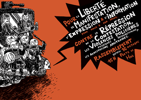 Affiche de la manifestation anti-rep du 16 octobre