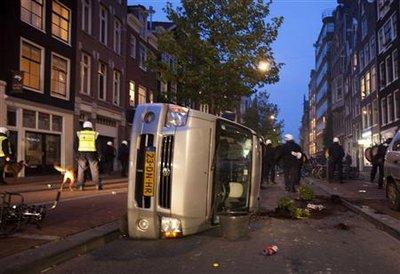 Manifestation pour les squatts à Amsterdam