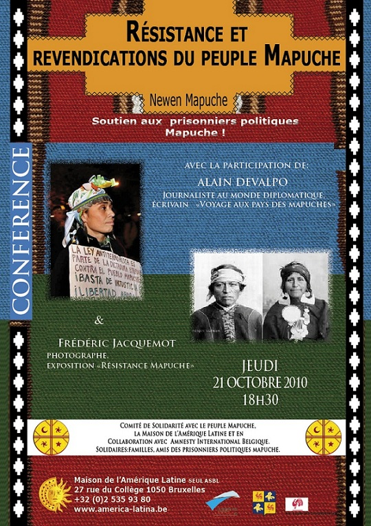 Conférence à Bruxelles sur les Mapuches
