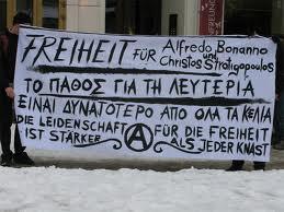 Manifestation pour Alfredo Bonanno et Christos Stratigopoulos