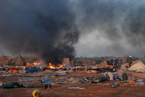 Camp de Sahraouis à Lâayoune