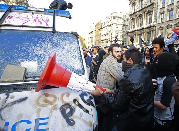 manifestation étudiante à Londres