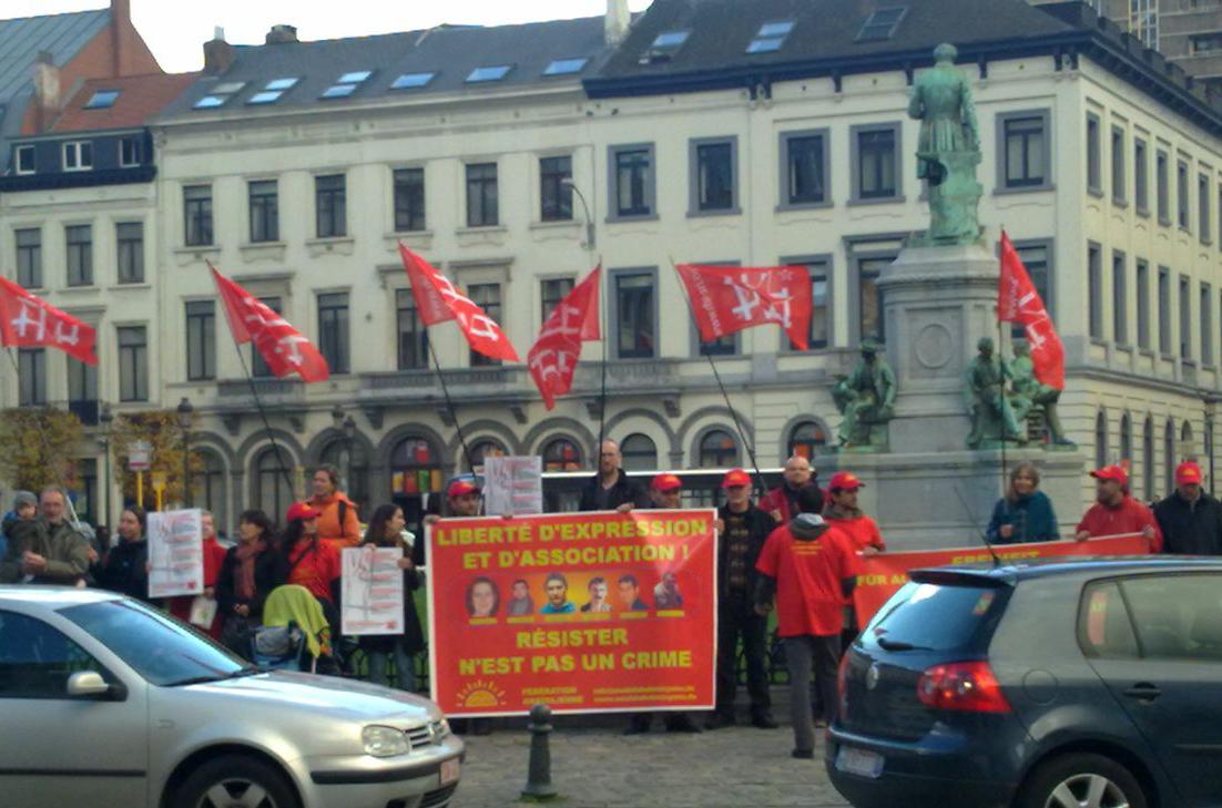 Rassemblement à Bruxelles contre le §129b