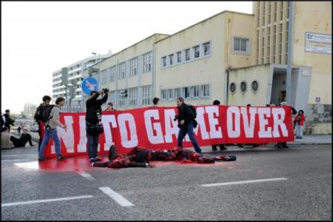 Action contre le sommet de l'OTAN à Lisbonne