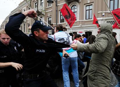 Manifestation estudiantine à Istanbul