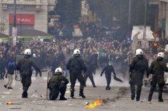 Manifestation contre l'austérité à Athènes