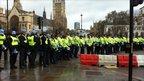 Manifestation estudiantine à Londres