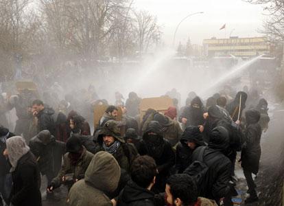 Manifestation estudiantine à Ankara