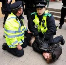 Arrestation en marge d'une manifestation estudiantine à Manchester